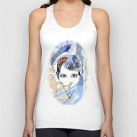 60s Tank Tops featuring '60s Eyes Collage with White Background- High Saturation by Katy Rose