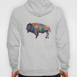 Watercolor Buffalo Bison Hoody