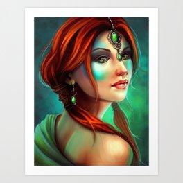 Jade Art Print