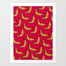 Vendedor de bananas Art Print