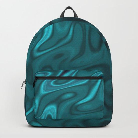 Ripples Fractal in Ocean Blue Backpack