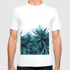 Yucca Trees Mens Fitted Tee White MEDIUM