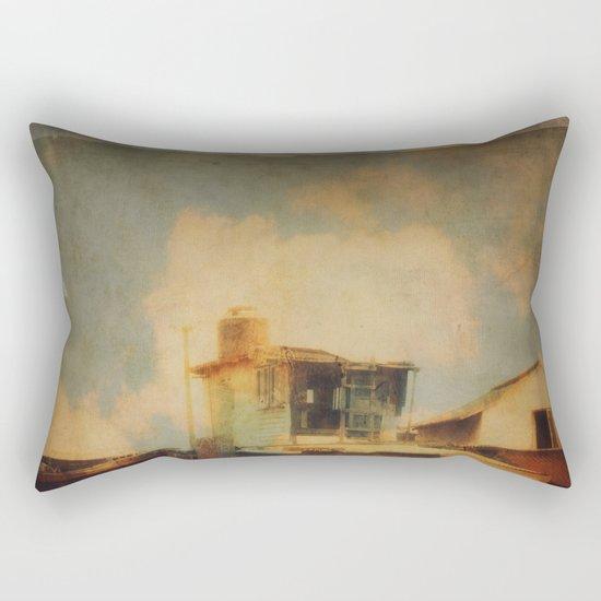 Fisherman Houses Rectangular Pillow