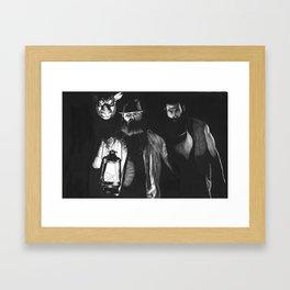 We're Here Framed Art Print