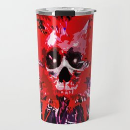 Splatter Skull (red) Travel Mug