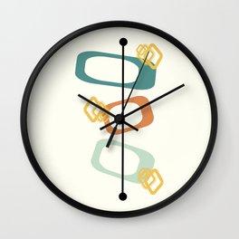 Mid Century Modern Shapes 02 Wall Clock