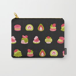 Strawberry Matcha - black Carry-All Pouch
