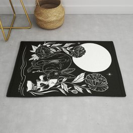 Skull and Rabbit Rug