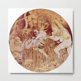 The Taming Of The Beast Metal Print