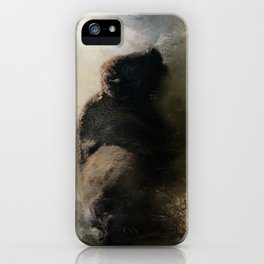 Abstract American Bison iPhone Case