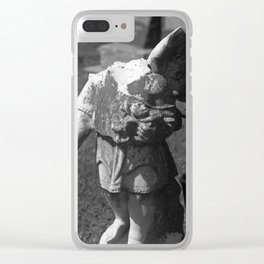 Gothic Angel Clear iPhone Case