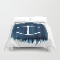 anchor Duvet Covers featuring Anchor by Bridget Davidson
