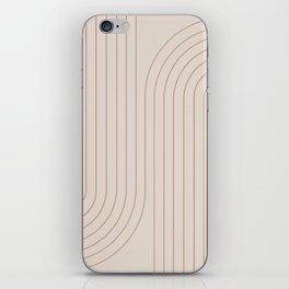 Minimal Line Curvature - Natural iPhone Skin