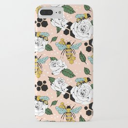 Bees on the flowers iPhone Case
