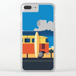 Surfer Bully Clear iPhone Case