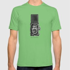 The King of Cameras - The Rolleiflex MEDIUM Mens Fitted Tee Grass