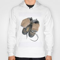 hiking Hoodies featuring Hiking Boots by Ann Horn