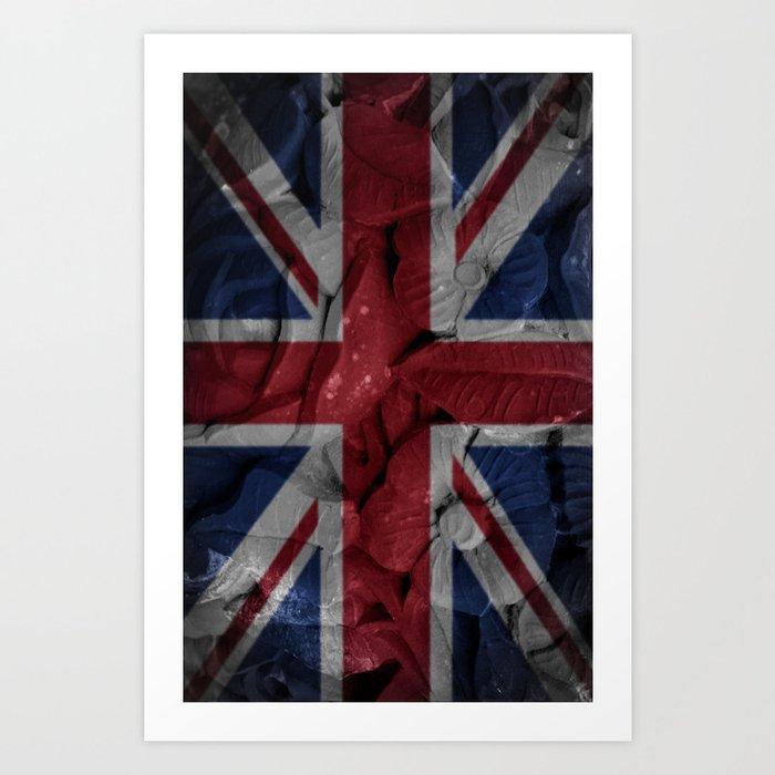 British flowers Art Print