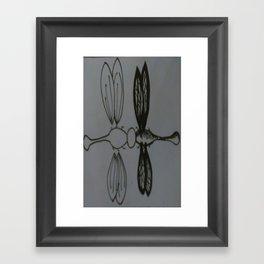 Dragon flies Framed Art Print