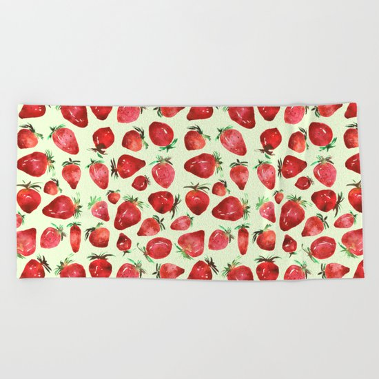 Strawberry vibes Beach Towel