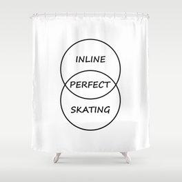Inline Skating Shower Curtain
