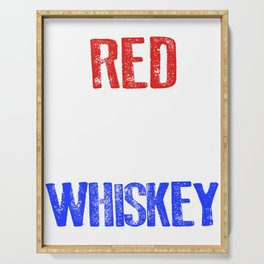 Red White And Whiskey 4th Of July Serving Tray