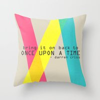 darren criss Throw Pillows featuring Once Upon A Time - Darren Criss (Listen Up Tour) by Nephie