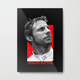 Formula One - Jenson Button Metal Print