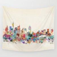 australia Wall Tapestries featuring sydney australia by bri.buckley