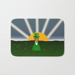 Oliver The Otter and Field of Shamrocks Bath Mat