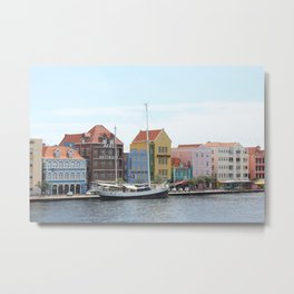 Sailing Boat in Willemstad Metal Print
