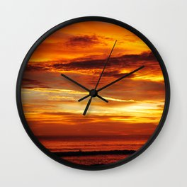 Another Beautiful Costa Rica Sunset Wall Clock