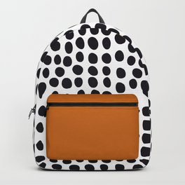 Classy Handpainted Polka Dots with Autumn Maple Backpack