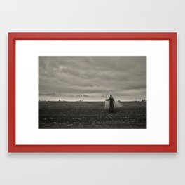I'll sail along this sky Framed Art Print