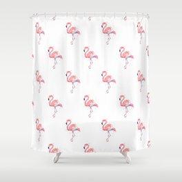 Flamingo Pattern Pink Flamingo Watercolor Shower Curtain