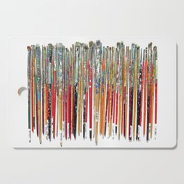Twenty Years of Paintbrushes Cutting Board