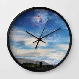 Samurai's dream of love Wall Clock