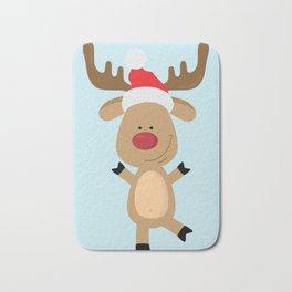 Dancing Rudolph Red Nosed Reindeer Merry Christmas Bath Mat