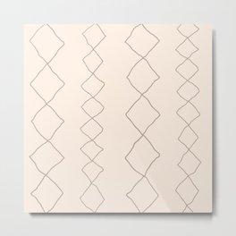Moroccan Diamond Stripe in Natural Metal Print