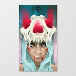 Bones girl Canvas Print