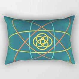 Line Atomic Structure Rectangular Pillow