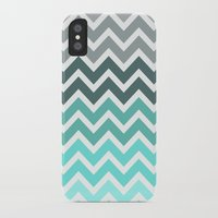 chevron iPhone & iPod Cases featuring Tiffany Fade Chevron Pattern by Directapparelco