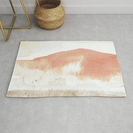 Terra Cotta Hills Abstract Desert Mountain Landsape with Watercolor Rug