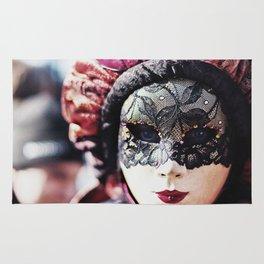 Carnival of Venice - Girl in Mask Rug