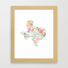 Bloomin' Texas Framed Art Print