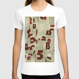 Letters collage T-shirt