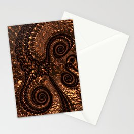 Textured Hammered Copper Stationery Cards