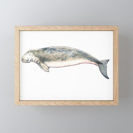 Dugong Framed Mini Art Print