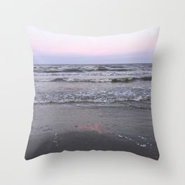 pink as the seafoam Throw Pillow