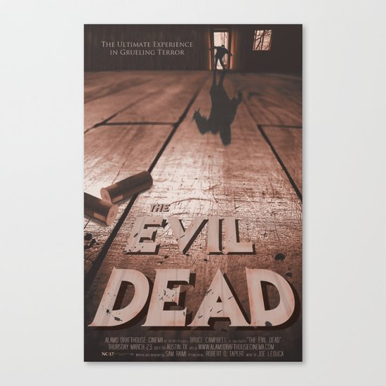 The Evil Dead - Alamo Drafthouse Poster Canvas Print by ...